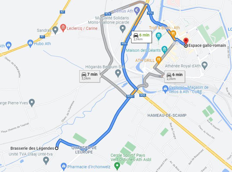 Itinéraire Pass Combiné